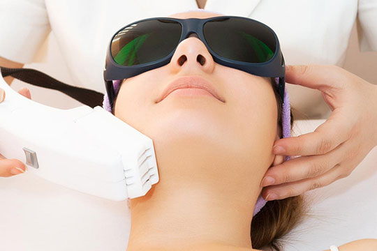 Facial treatments - Photofacial rejuvenation